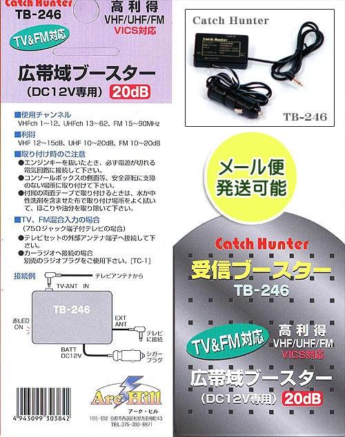テレビTV・FM・VICS受信ブースター20d...