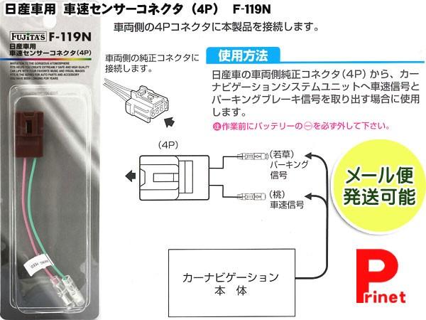 【メール便】車速センサーコネクター(4P)  日産...
