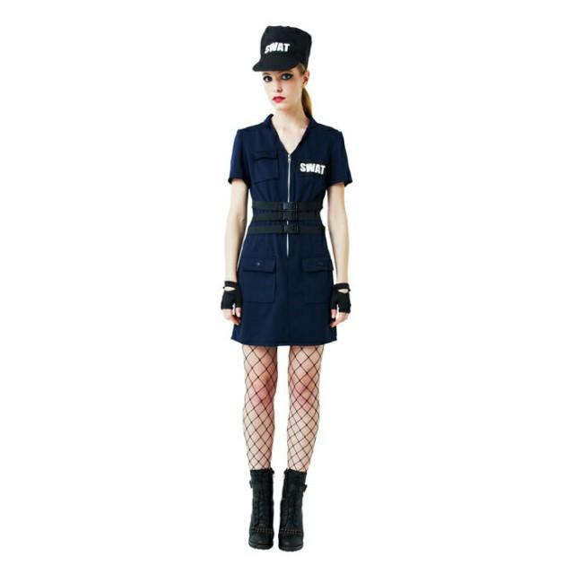 SWAT Ladies コスプレ 衣装 ハロウィン レディー...