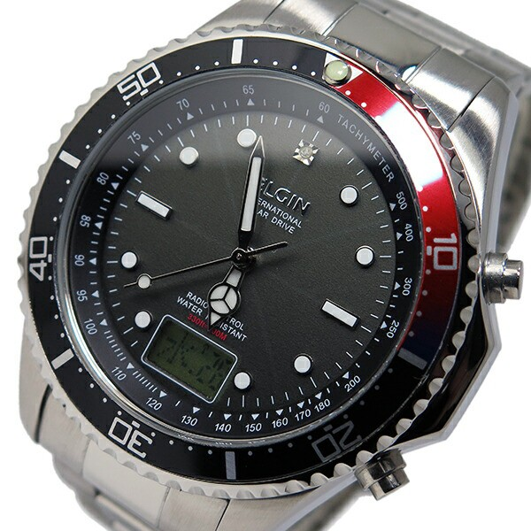エルジン ELGIN ソーラー 電波 メンズ 腕時計 時...