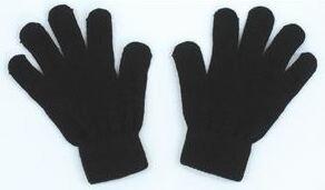 カラーのびのび手袋 黒 1206