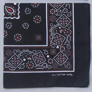 バンダナ 黒 1248