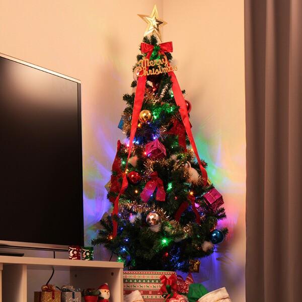 クリスマスツリー 90cm オーナメントセット ツリ...