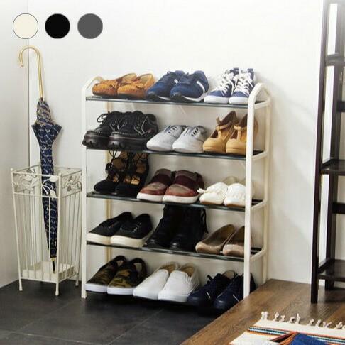 シューズラック 5段 収納 靴箱 シューズボックス ...