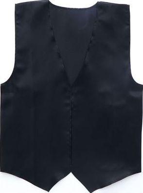衣装ベース(サテンベスト)大 黒 2085