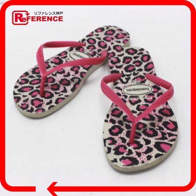 あす着 ハワイアナス ビーチサンダル レオパード Havaianas サンダル ゴム ピンク レディース 靴