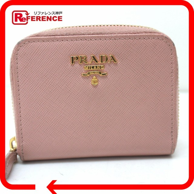 あす着 PRADA プラダ 1M0268 小銭入れ コインケース レザー ピンク レディース 財布