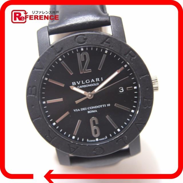 あす着 BVLGARI ブルガリ BB40CL メンズ腕時計 ブルガリ・ブルガリ 腕時計 カーボン/革ベルト メンズ