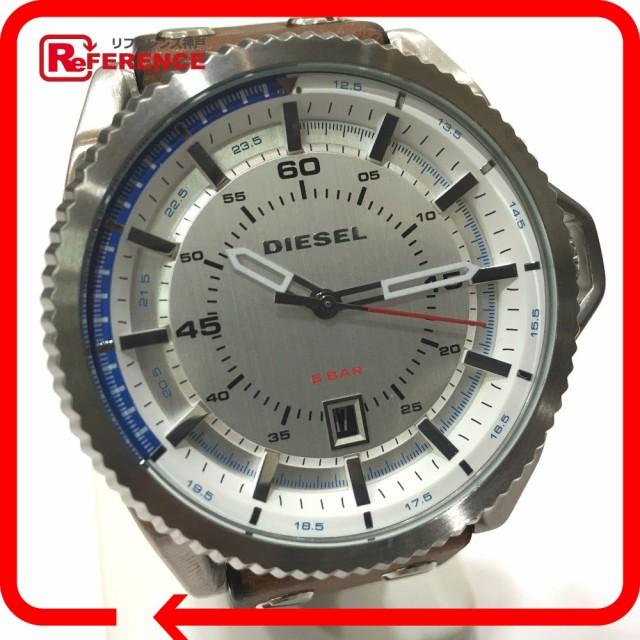 あす着 DIESEL ディーゼル DZ-1715 メンズ腕時計 ロールケージ 腕時計 SS×レザー シルバー メンズ
