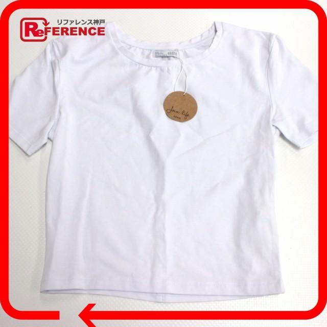 新品同様 あす着 ZARA ザラ オーガニック Tシャツ トップス 半袖Tシャツ ホワイト レディース