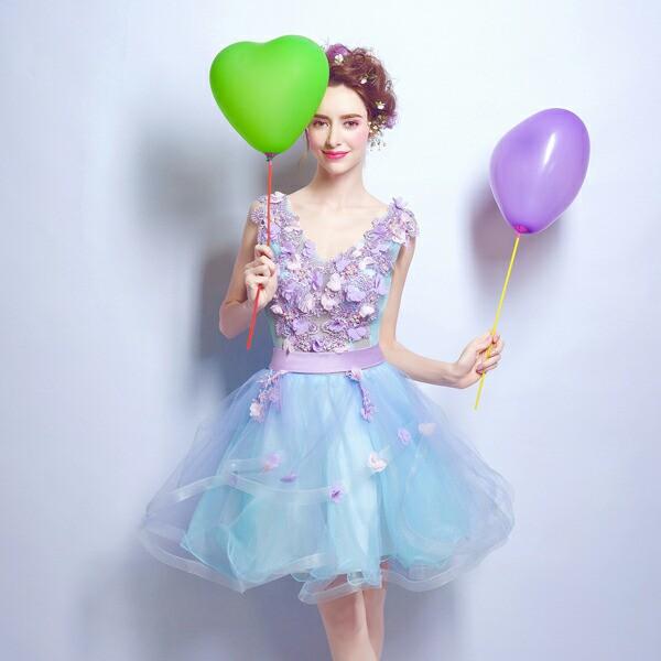 即納♪ウェディングドレス ドレス カラードレス...
