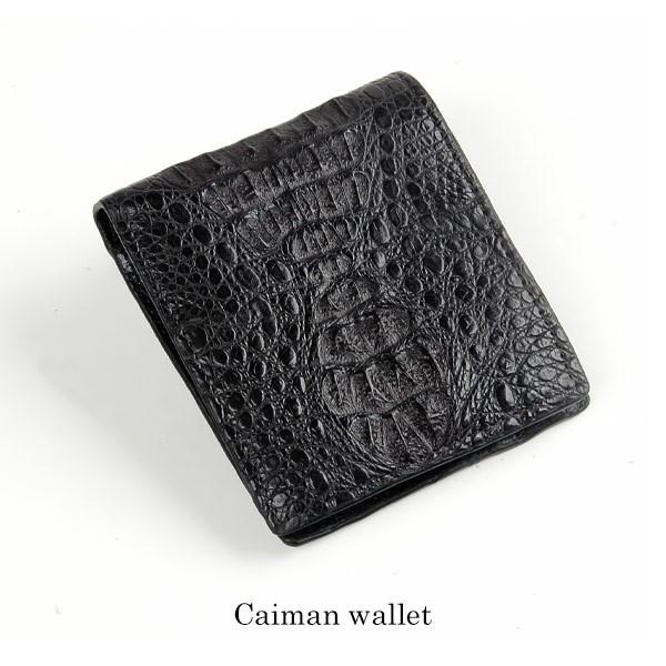 カイマン折り財布財布サイフwallet皮本革二つ折り...