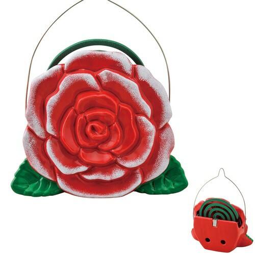 蚊取り器 蚊遣器 真紅の薔薇 [高さ15.3 x 18cm] ...