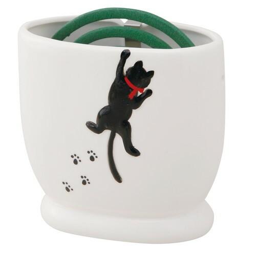 蚊取り器 蚊遣器 黒猫シルエット [高さ12.3 x 12...