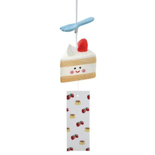 風鈴 スイーツ風鈴ショートケーキ [高さ6.5 x 6.7...