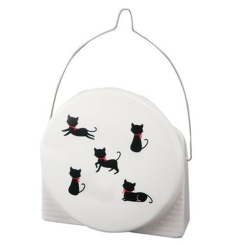 蚊取り器 丸蚊遣器 黒猫シルエット [15.9 x 16.3...