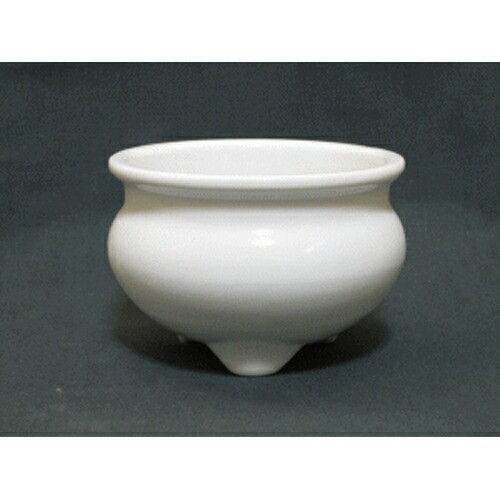 仏壇用 香炉 白(白磁) 2寸 (直径6.5cm 高さ5cm) ...