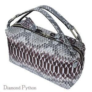 ダイヤモンドパイソン ハンドバッグ ショルダース...