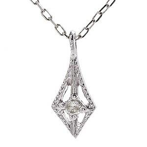 ダイヤモンド ホワイトゴールド K18 ネックレス ...