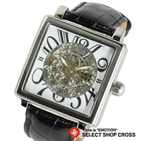 COGU コグ 腕時計 オートマティック ホワイトブラ...
