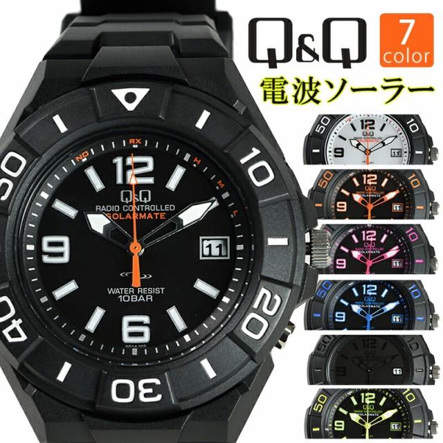 シチズン Q&Q 電波ソーラー 腕時計 HG14-304 HG14...