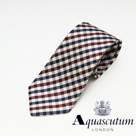 Aquascutum アクアスキュータム チェック柄 シル...