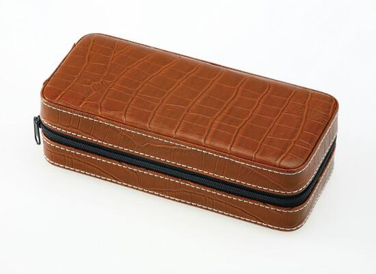 【お取寄せ】 エスプリマ 2本用合皮携帯時計ケース 腕時計用ケース ディスプレイケース コレクションケース SE80002BR ブラウン
