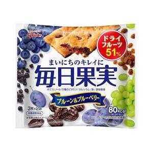 毎日果実 プルーン&ブルーベリー 3枚*2袋入 江崎...