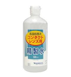 コンタクトレンズ用 精製水 500mL 健栄製薬 高温...