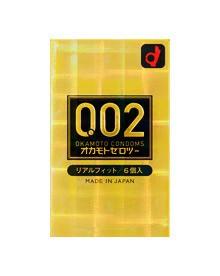 オカモト ゼロツー 0.02ミリ リアルフィット 6個...