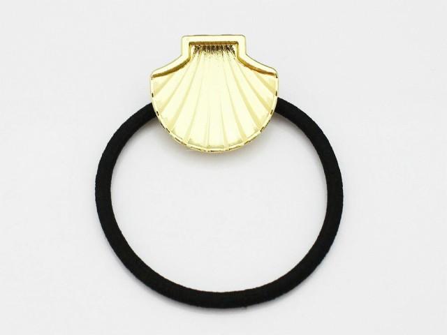 (505)ヘアゴム シェル 貝殻型  ミール皿付き ...