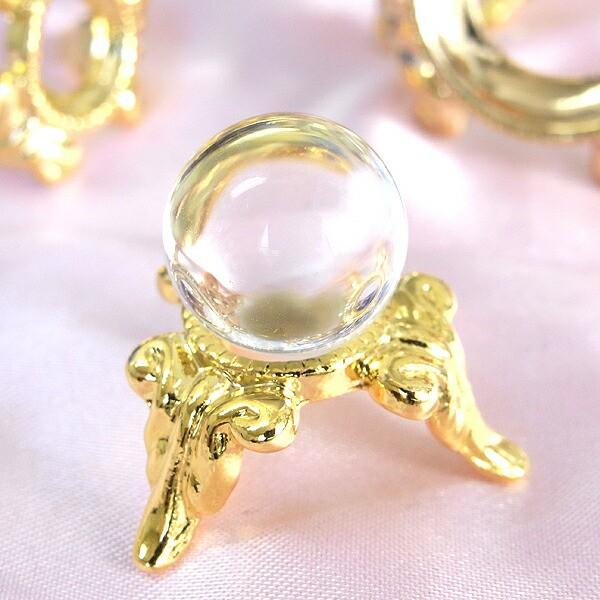 本水晶(合成) 置き玉 15mm [4月誕生石] クリスタ...