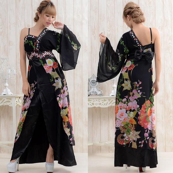 花魁 花魁ドレス 着物ドレス 浴衣 コスプレ 衣装...