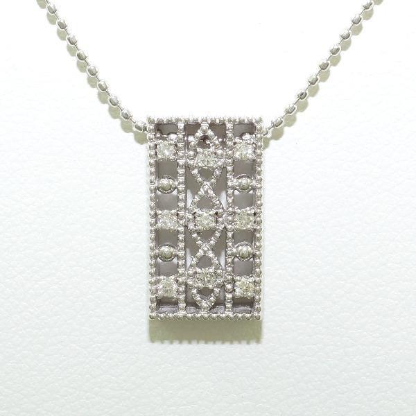 K18 18金 WG ホワイトゴールド ネックレス ダイヤ...