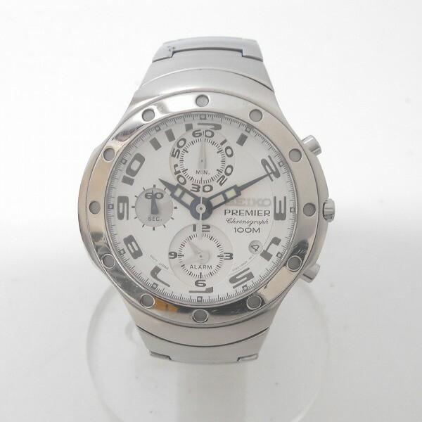 時計 セイコー プルミエ 7T62-0CY0 メンズ クロノ...