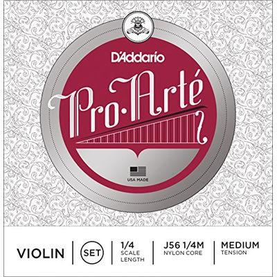 DADDARIO 【送料無料】 D'Addario ダダリオ バイオリン弦 J56 1/4M ProArte Violin Strings / SET (aluminum D) 【新品・税込】