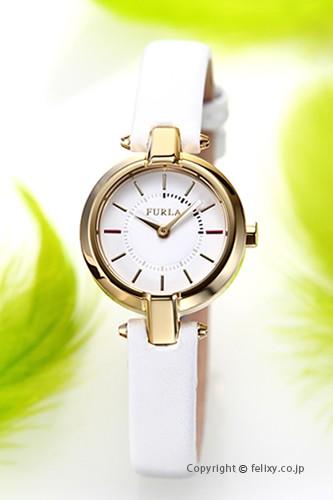 フルラ FURLA 腕時計 レディース Linda (リンダ) ホワイト×ゴールド R4251106502