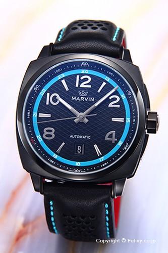 deba579bd1 Marvin マーヴィン メンズ腕時計 M119.23.64.84 Malton 160 クッション オート ブラック(ブルー