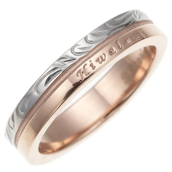 レディースリング 指輪 サージカルステンレス 金属アレルギー対応 ハワイ語 ハワイアンジュエリー ボタニカル 繊細な彫柄 送料無料