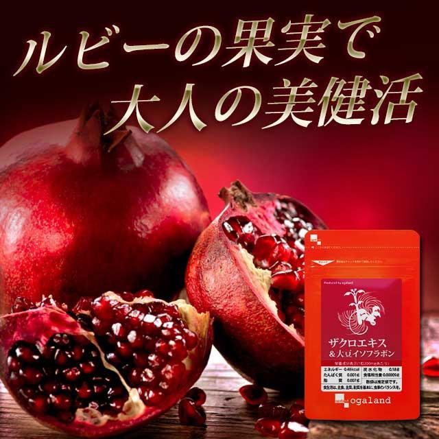 ザクロエキス&大豆イソフラボン(約3ヶ月分) サプリ サプリメント 健康食品 _JB _LH3K