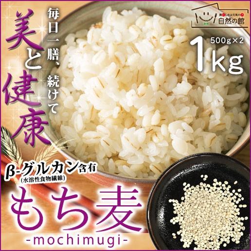 もち麦 1kg (500g×2) 雑穀 雑穀米 大麦 送料無料 米 お米 もちむぎ 訳あり簡易包装 自然の館 味源 ダイエット 美容 安心 無添加