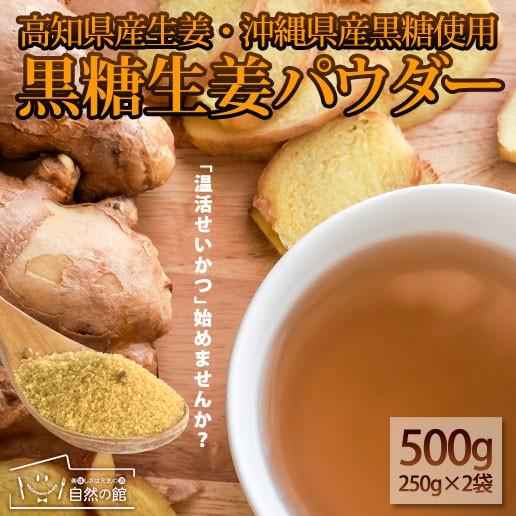 黒糖生姜パウダー250g×2 黒糖 生姜 しょうが 粉末 簡易包装 美容 健康 ダイエット  自然の館
