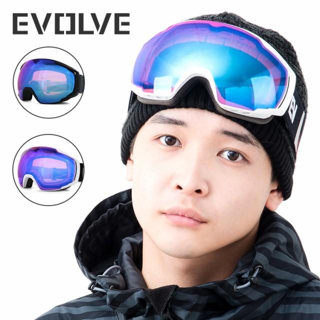 イヴァルブ ゴーグル ミラーレンズ アジアンフィット EVOLVE EVG 1218 全2カラー スキー スノーボード スノボ