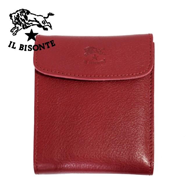 bfcb66a61651 イルビゾンテ 長財布 IL BISONTE C0976 P 245 Ruby red レッド 革 メンズ レディース 人気 ブランド