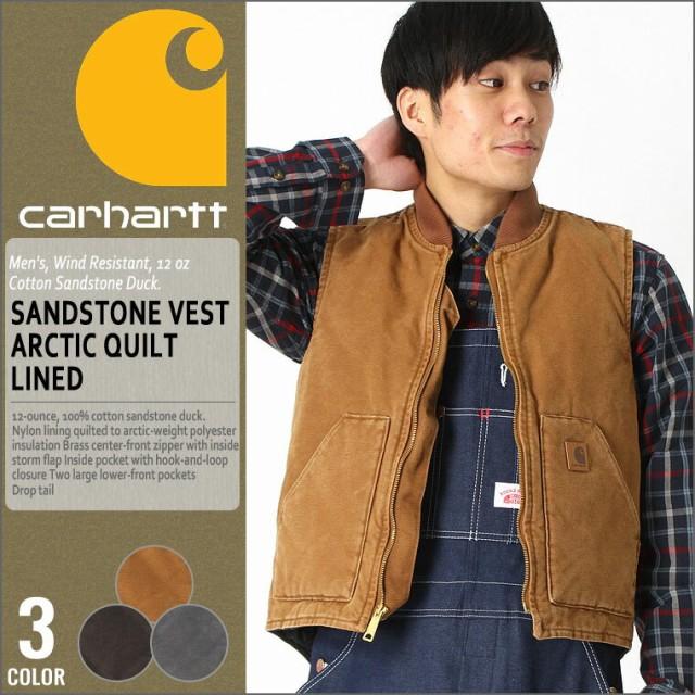 Carhartt Mens Sandstone Vest Arctic Quilt Lined V01