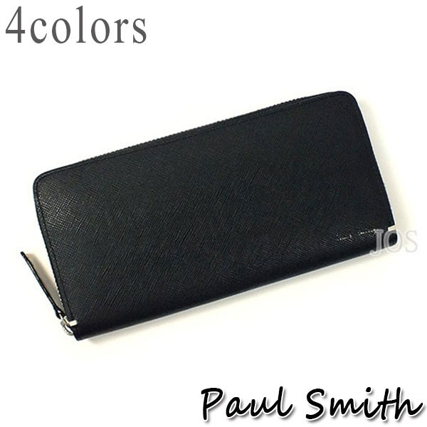 a41ff0e518ea ポールスミス 財布 メンズ Paul Smith ポールスミス ジップ ラウンドジップ ストローグレイン 長財布 全