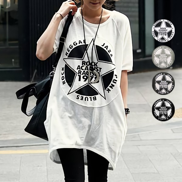 値下げ 夏新作 Tシャツ レディース 半袖 ロゴ 大きいサイズ プリント カットソー トップス (sh-277)(メール便送料無