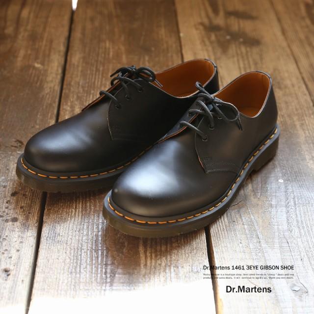 Dr.Martens ドクターマーチン 革靴 レザーシューズ ユニセックス スムースレザー 3ホール イエローステッチ 1461