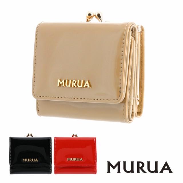 ムルーア 三つ折り財布 エナメル MR-W643 MURUA ...