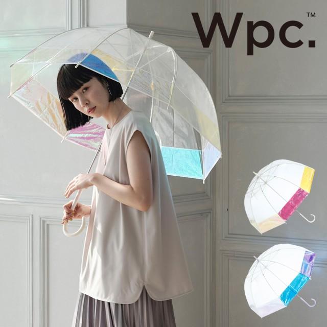 【レビューを書いてポイント+5%】Wpc. 傘 オーロラ バードケージ 雨傘 長傘 ビニール傘 グラスファイバー レディース PT-031 PT-032 お